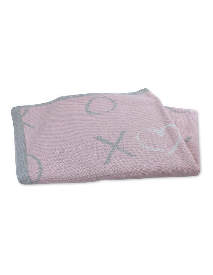 Pink Bloom Knit Blanket image 1