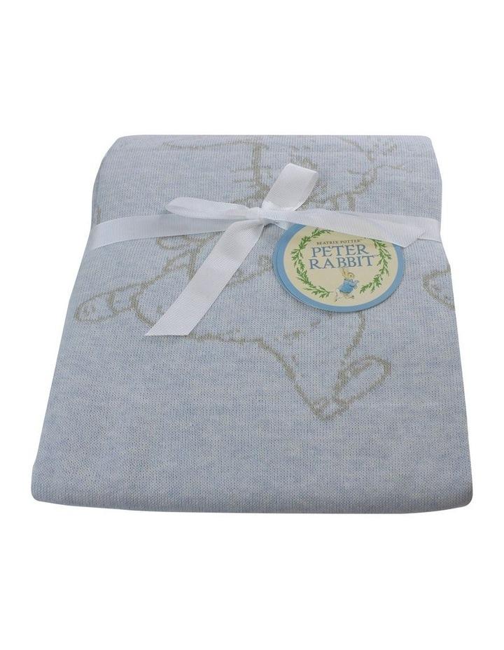 Hop Little Rabbit Cotton Knit Blanket image 1