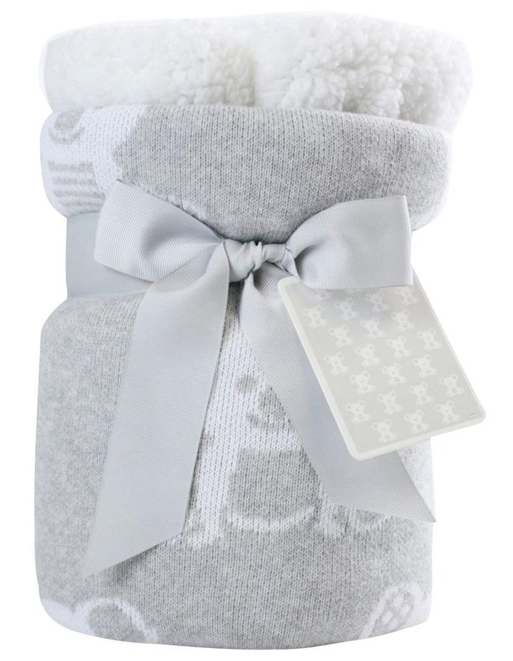 Aussie Animals Koala Knit Blanket with Fleece Lining image 1