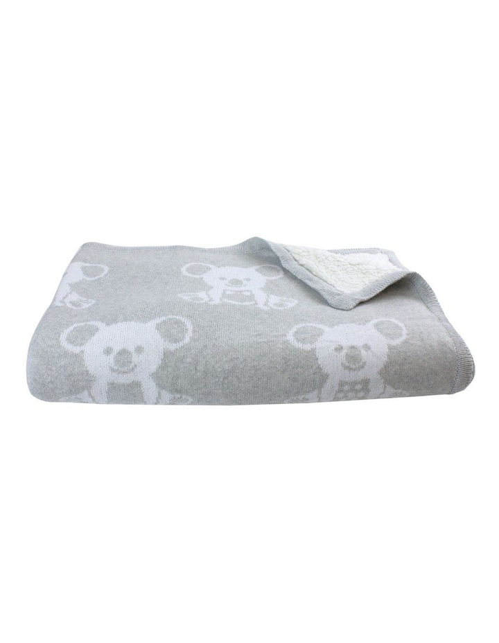 Aussie Animals Koala Knit Blanket with Fleece Lining image 2