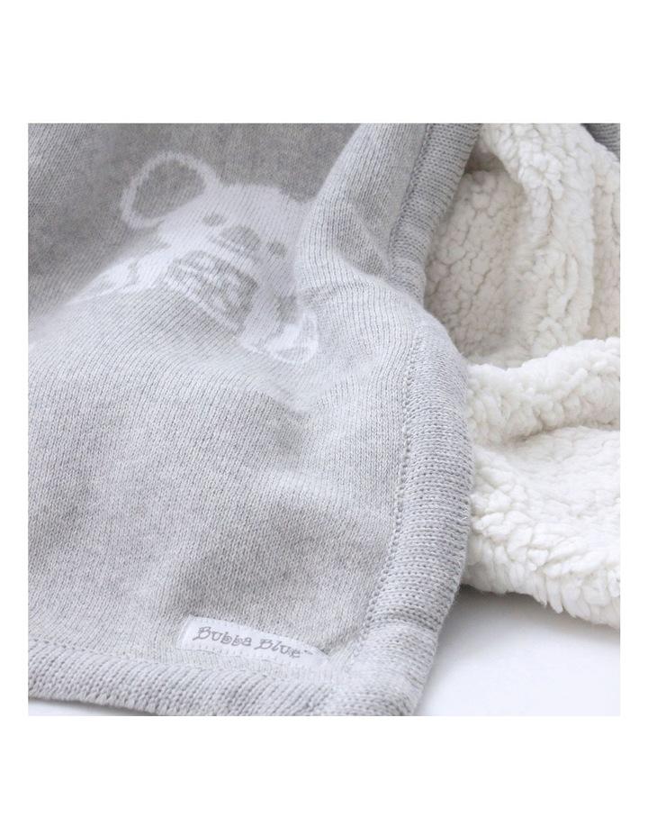 Aussie Animals Koala Knit Blanket with Fleece Lining image 3