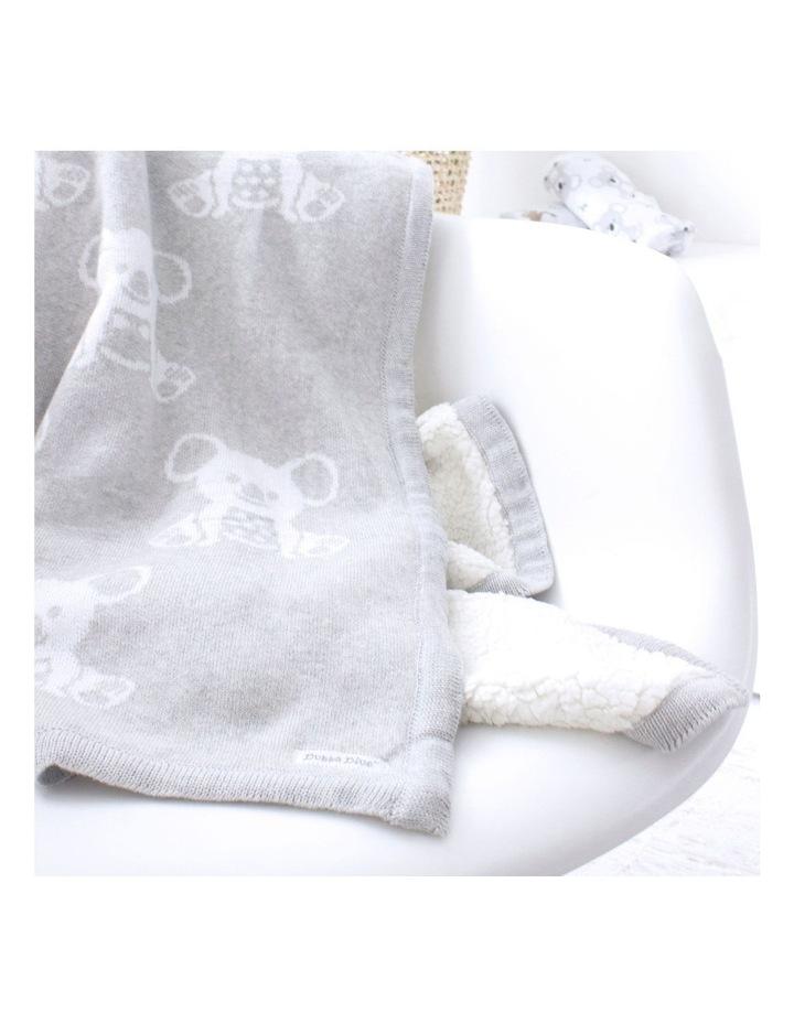 Aussie Animals Koala Knit Blanket with Fleece Lining image 5