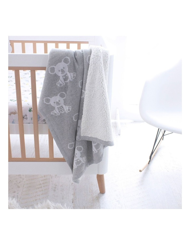 Aussie Animals Koala Knit Blanket with Fleece Lining image 6