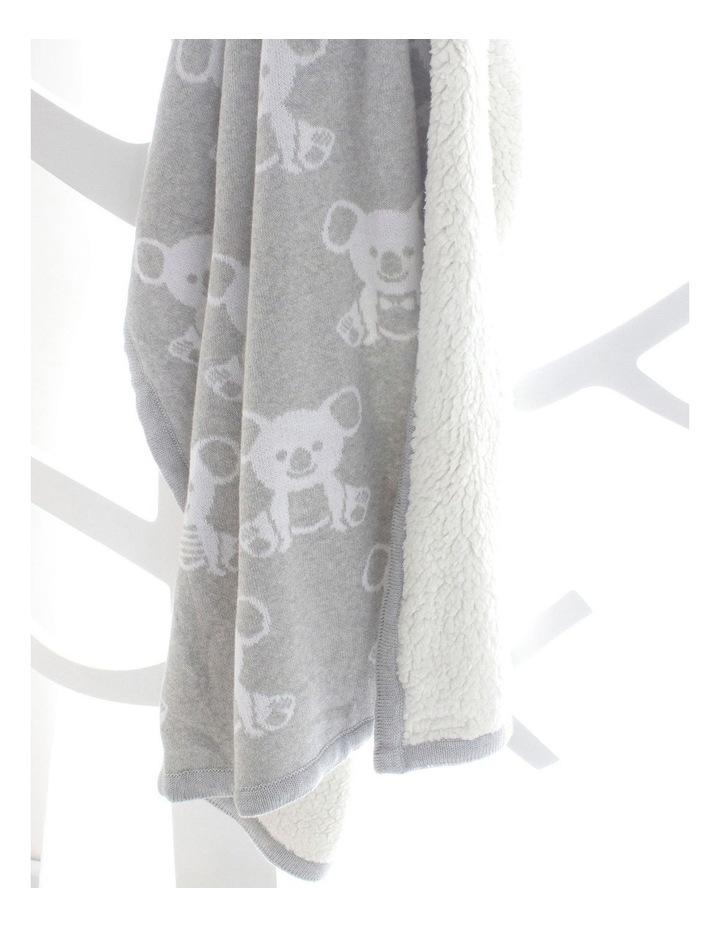 Aussie Animals Koala Knit Blanket with Fleece Lining image 7