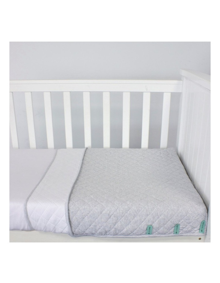 Breathe Easy 2.5 Tog Sleep Pouch - White/Grey Standard Cot image 3