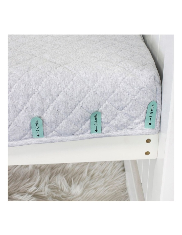 Breathe Easy 2.5 Tog Sleep Pouch - White/Grey Standard Cot image 5
