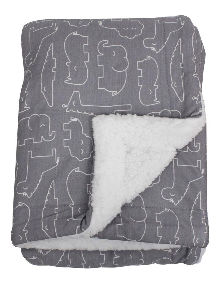 Ash Grey Safari Bamboo Reversible Cuddle Blanket image 2