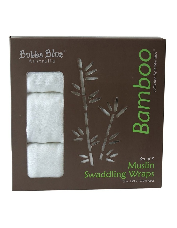 Bamboo 3 Pack Muslin Swaddling Wraps image 1