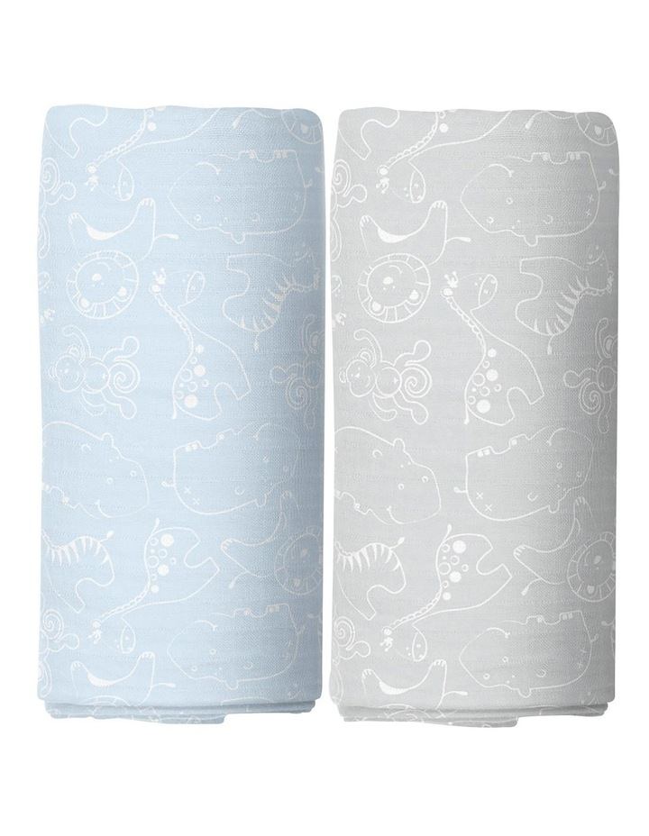 Little Safari 2 Pack Muslin Swaddles image 2