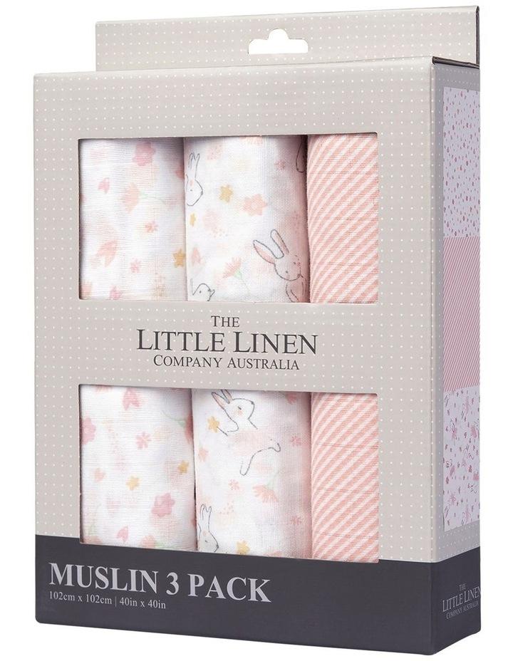 Muslin 3 Pack Prints Ballerina Bunny image 1