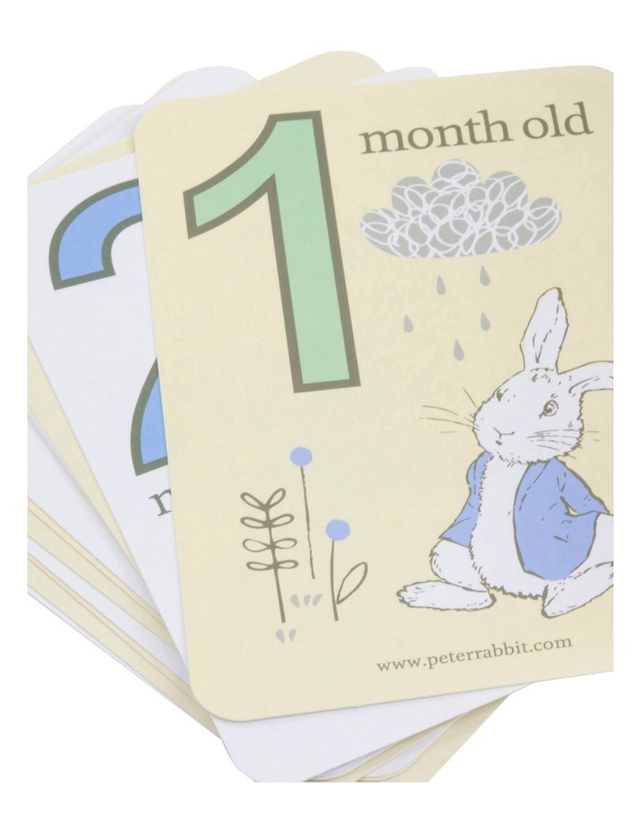 Cloud 2 Muslin Swaddles And Baby Milestone Cards Blue image 3