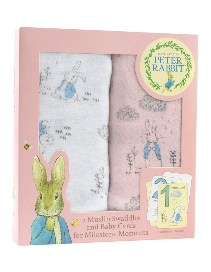 Cloud 2 Muslin Swaddles And Baby Milestone Cards image 1