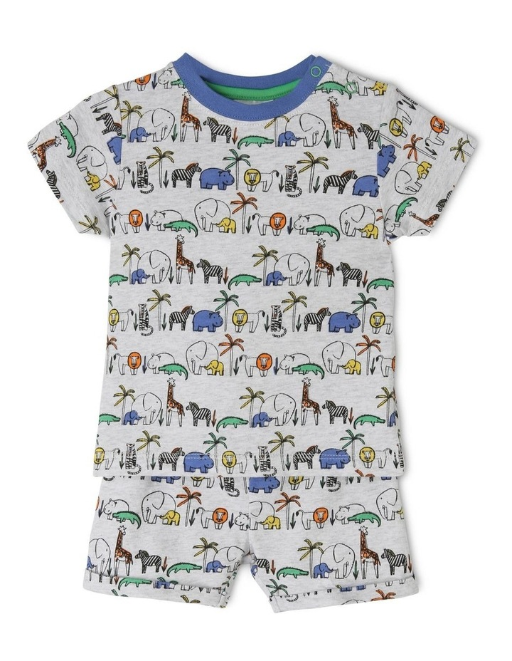 Safari Animal Grey Pajamas Set image 1