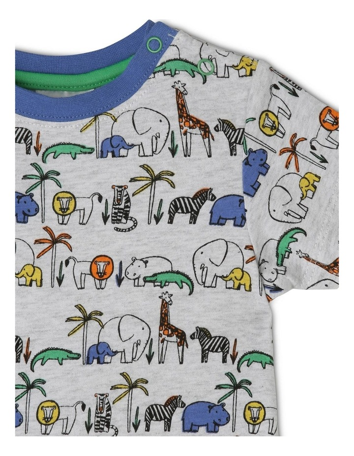 Safari Animal Grey Pajamas Set image 2