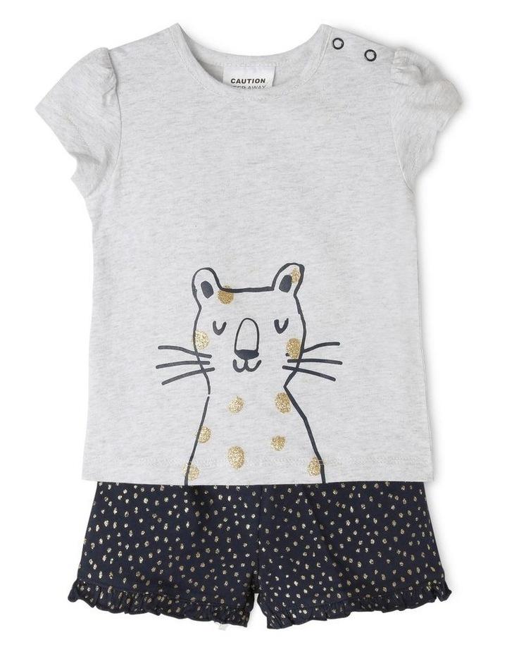 Girls Essential Cheetah Pajamas Set image 1