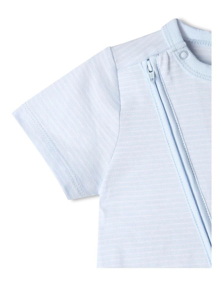 Essential Stripe Bear Pocket Onesie image 3