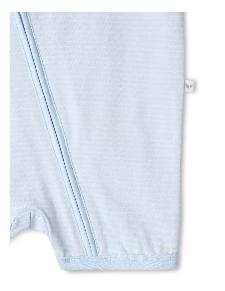 Essential Stripe Bear Pocket Onesie image 4