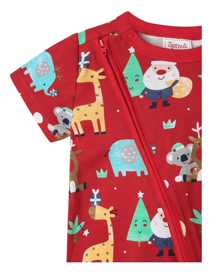 Sprout Animals Red Christmas Onesie image 2