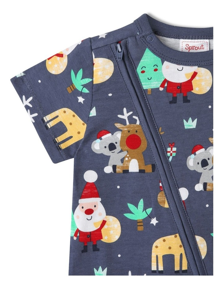Sprout Animals Navy Christmas Onesie image 2