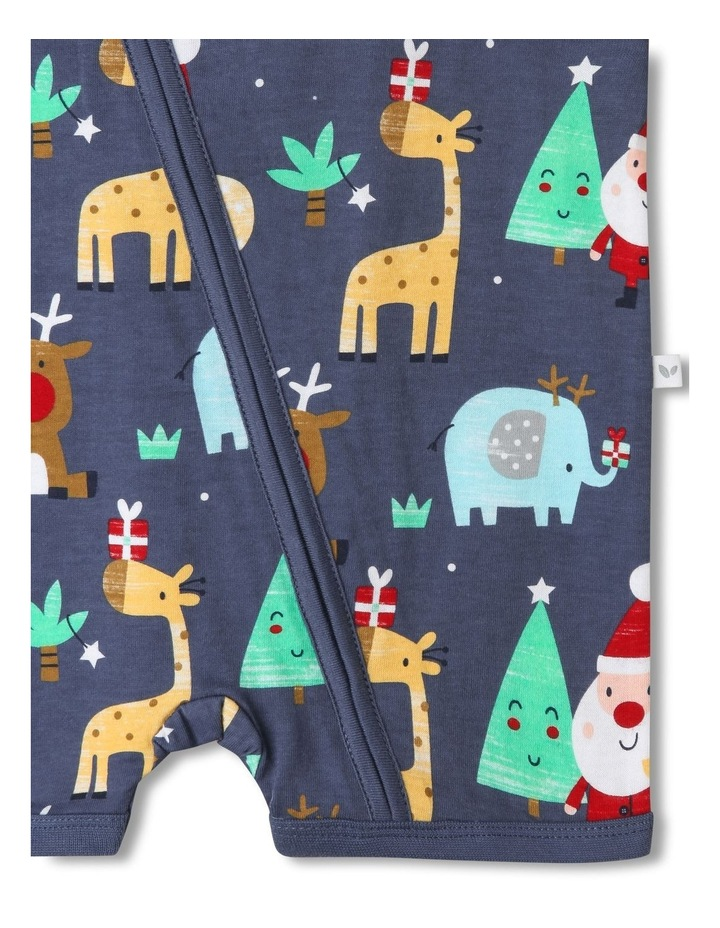 Sprout Animals Navy Christmas Onesie image 3