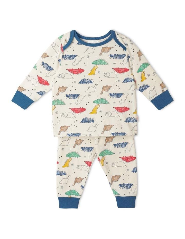 Enzo Sketchy Dino Organic Pyjamas image 1