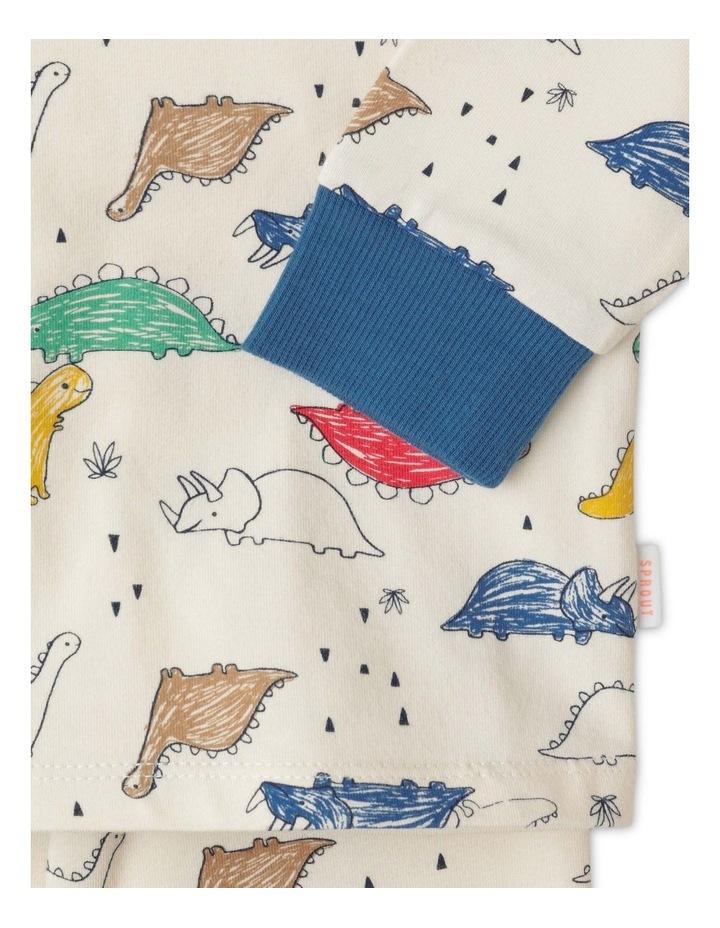Enzo Sketchy Dino Organic Pyjamas image 3