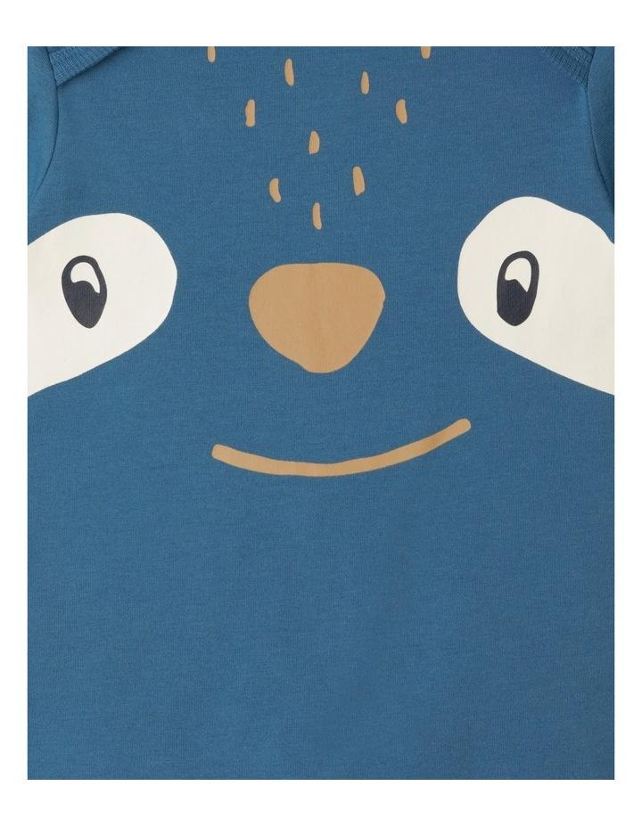 Enzo Sloth Blue Organic Cotton Pyjamas Set image 3