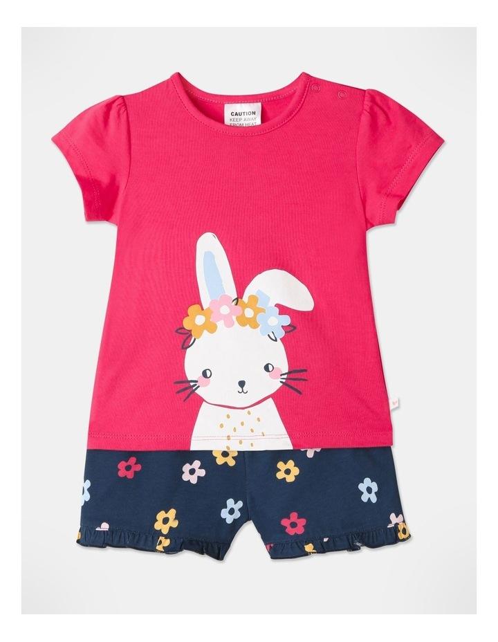 Bunny Pyjamas Set Raspberry image 1
