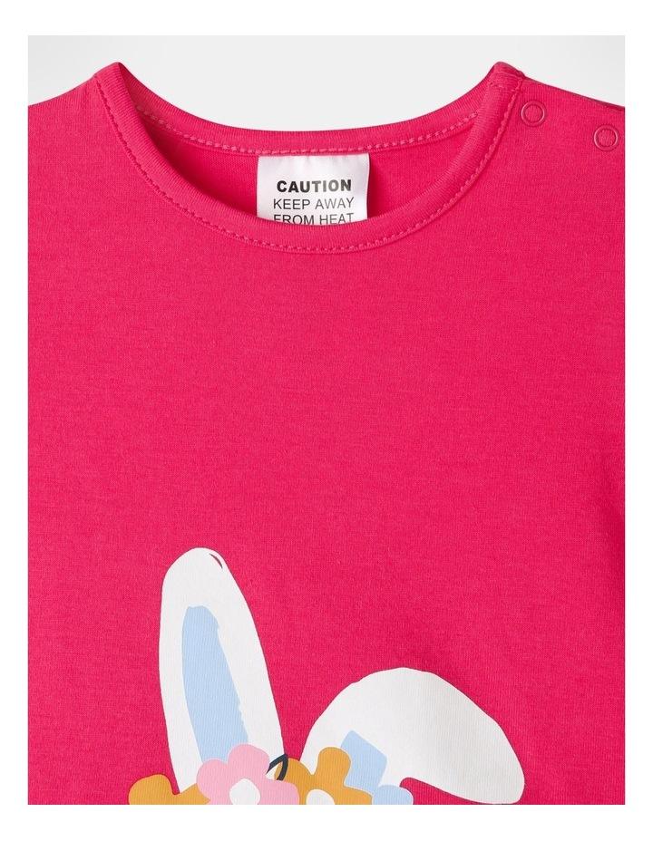 Bunny Pyjamas Set Raspberry image 3