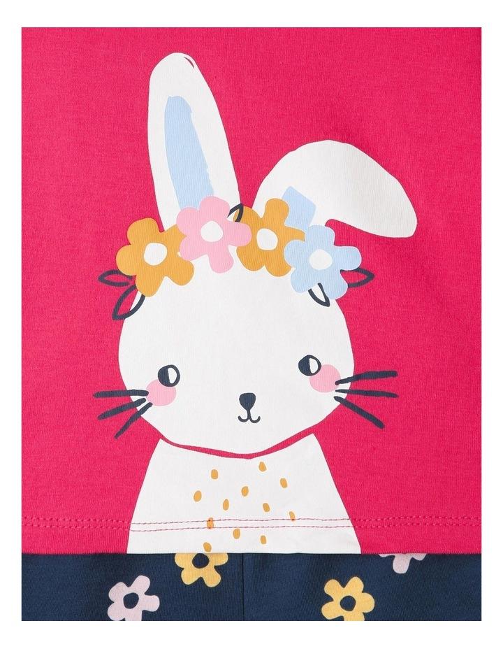 Bunny Pyjamas Set Raspberry image 4