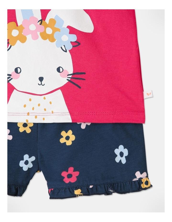 Bunny Pyjamas Set Raspberry image 5