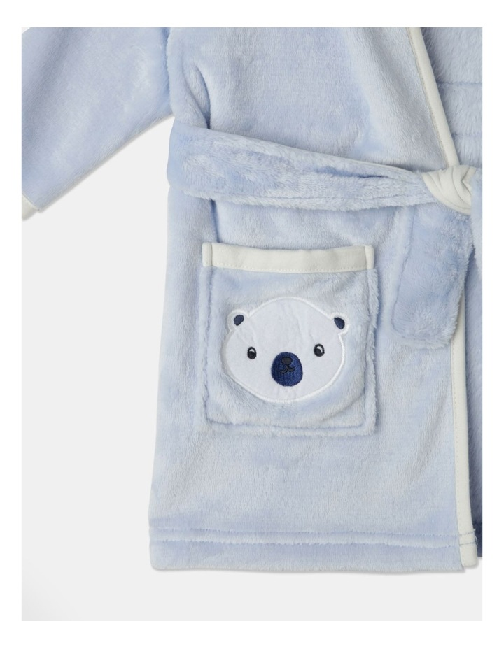 Novelty Bear Hooded Gown Light Blue image 2