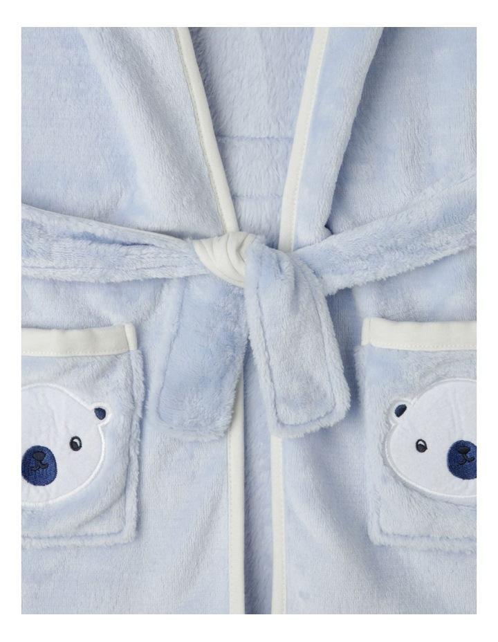Novelty Bear Hooded Gown Light Blue image 4