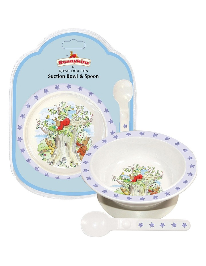 Suction Bowl With Spoon in Pale Blue image 2