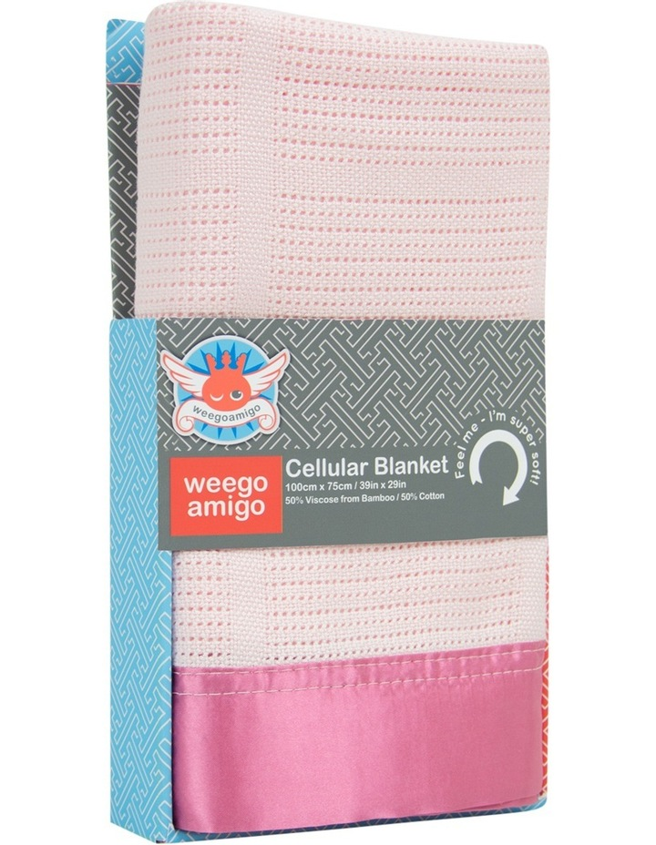 Cellular Blanket - Sugar Pink image 1