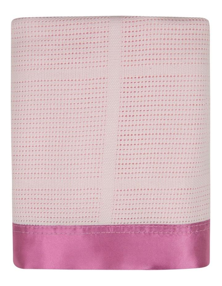 Cellular Blanket - Sugar Pink image 2