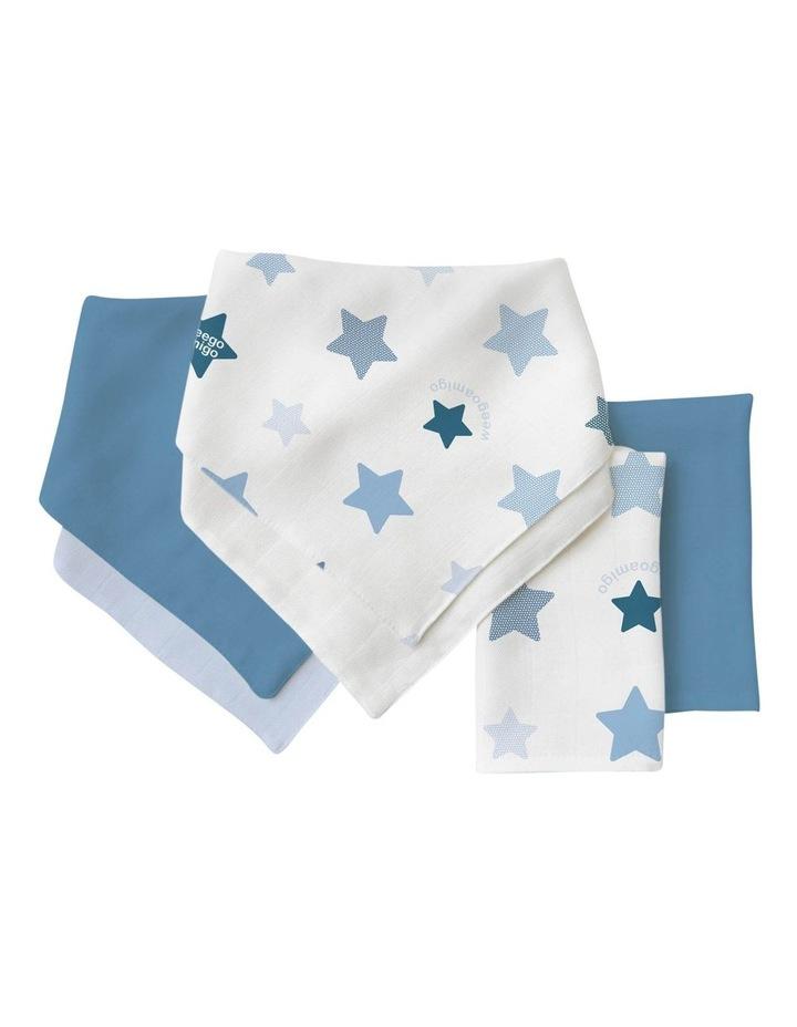 Bamboo Bib/Washer Multipack - Stars Blue image 1