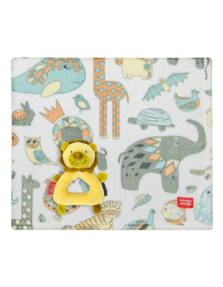 Weego Colourplay Plush Rattle   Blanket - Lion image 1