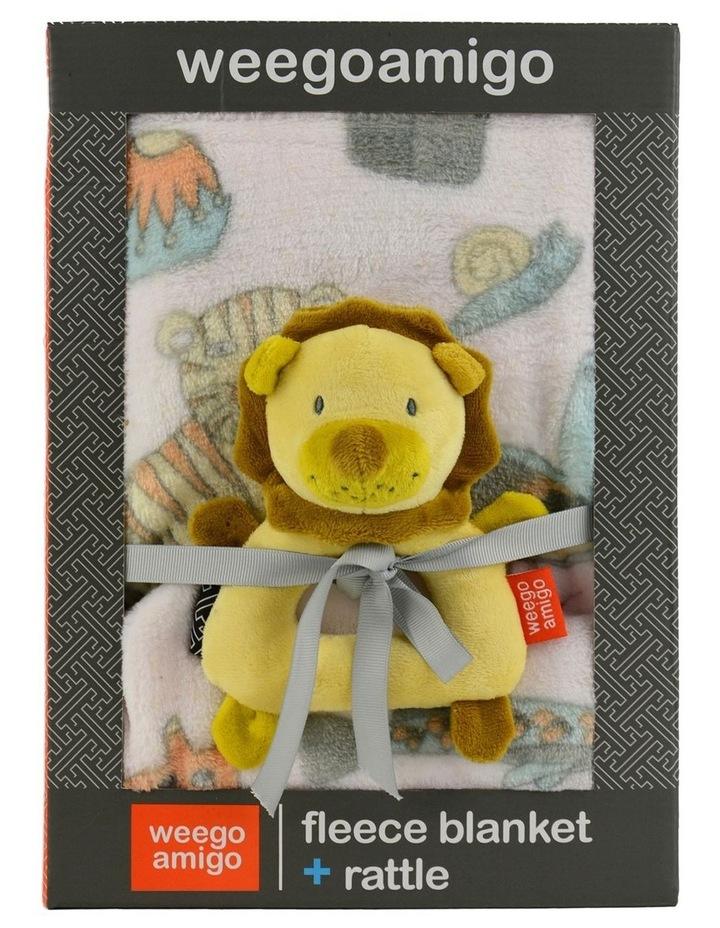 Weego Colourplay Plush Rattle   Blanket - Lion image 2