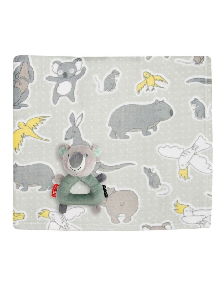 Weego Colourplay Plush Rattle   Blanket - Koala image 1