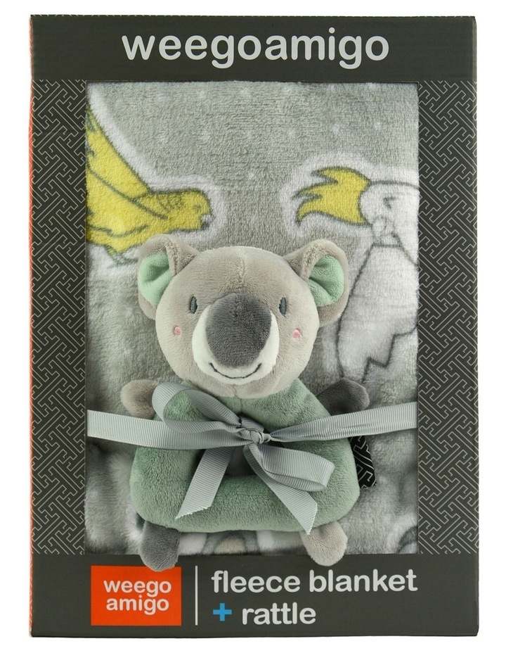 Weego Colourplay Plush Rattle   Blanket - Koala image 2