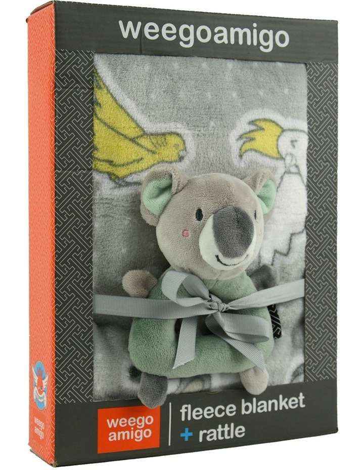Weego Colourplay Plush Rattle   Blanket - Koala image 3