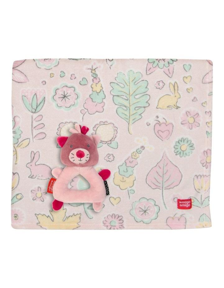 Weego Colourplay Plush Rattle   Blanket - Kitten image 1
