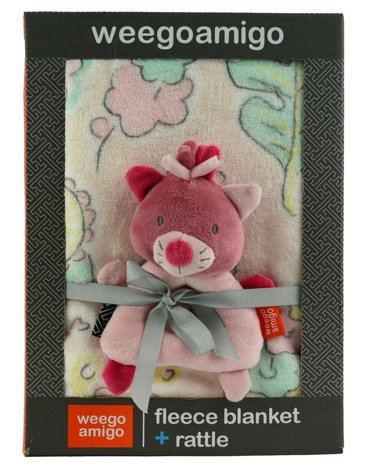 Weego Colourplay Plush Rattle   Blanket - Kitten image 2