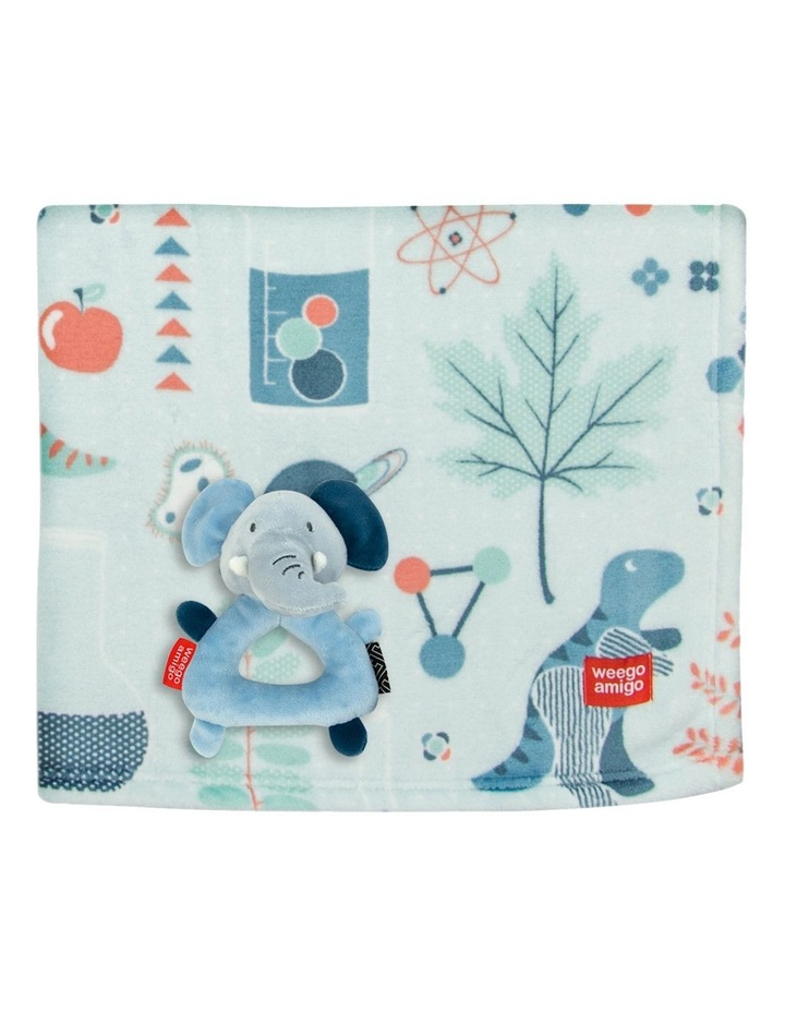 Weego Colourplay Plush Rattle   Blanket - Elephant image 1