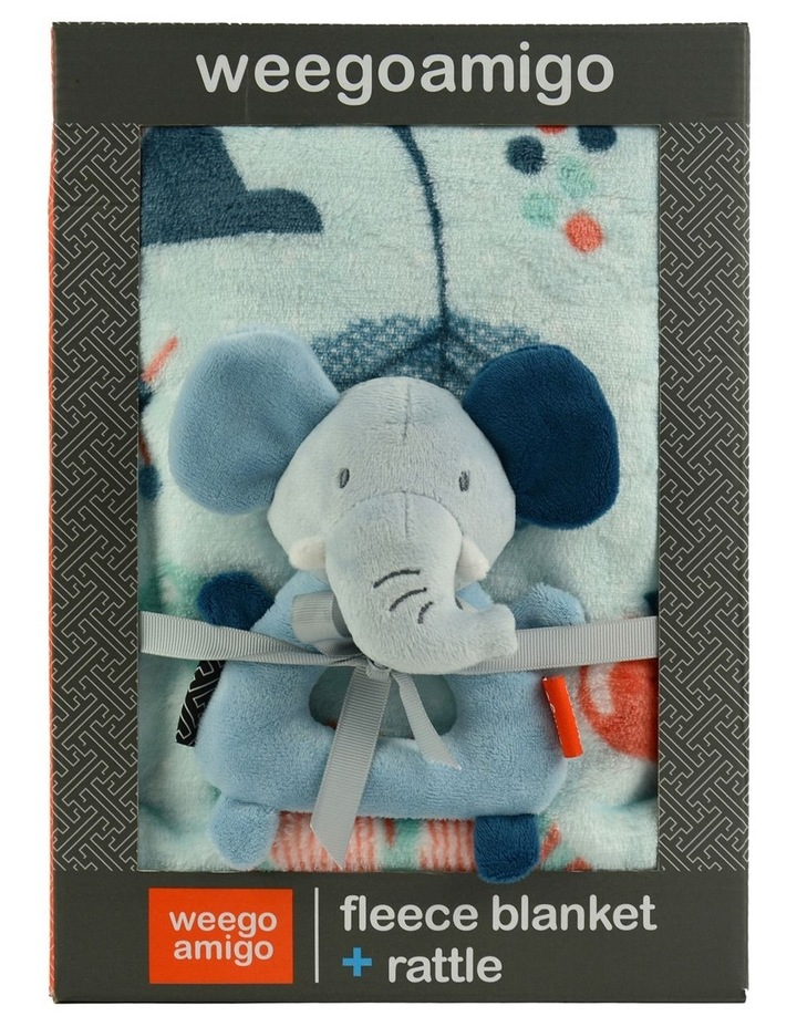 Weego Colourplay Plush Rattle   Blanket - Elephant image 2