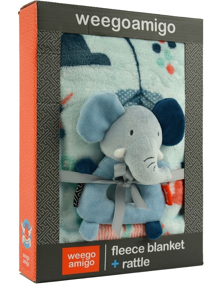 Weego Colourplay Plush Rattle   Blanket - Elephant image 3