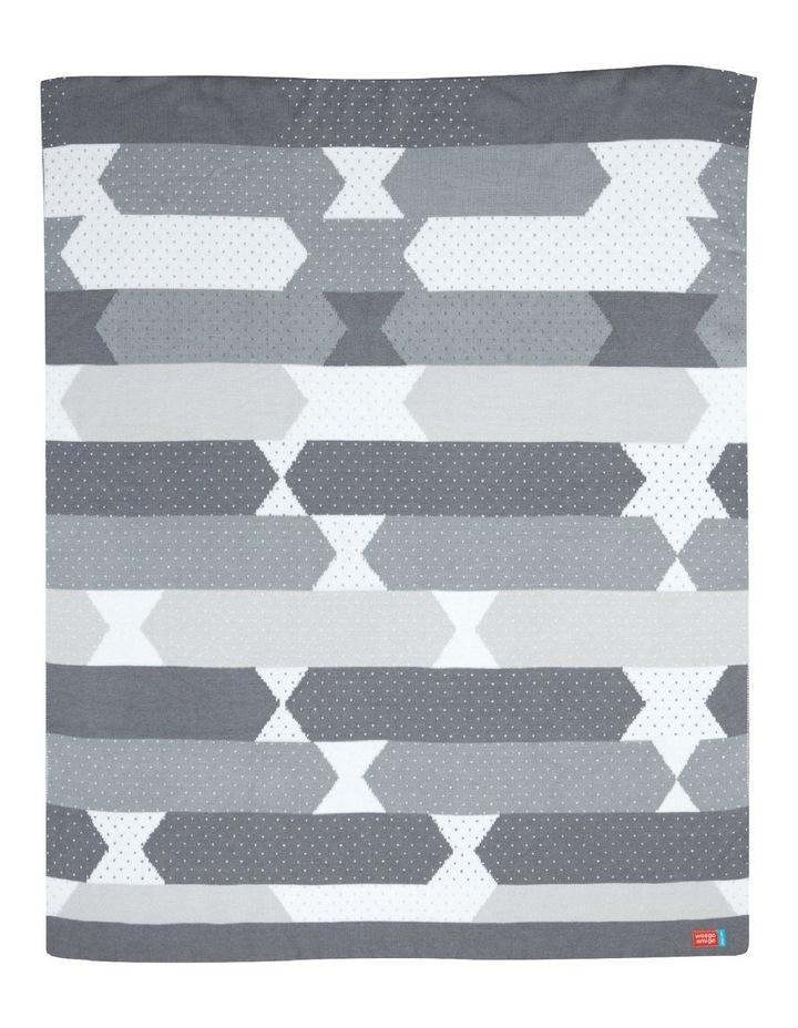 Bestee Bamboo Knit Blanket - Como Charcoal image 1