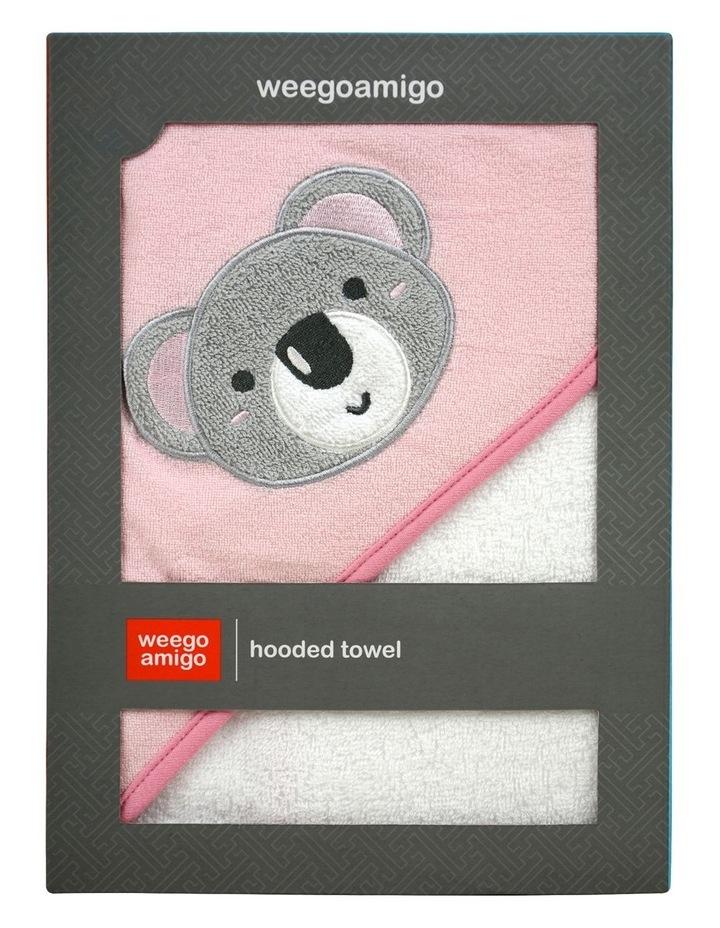 Weego Hooded Towel - Aussie Mates Pink image 1