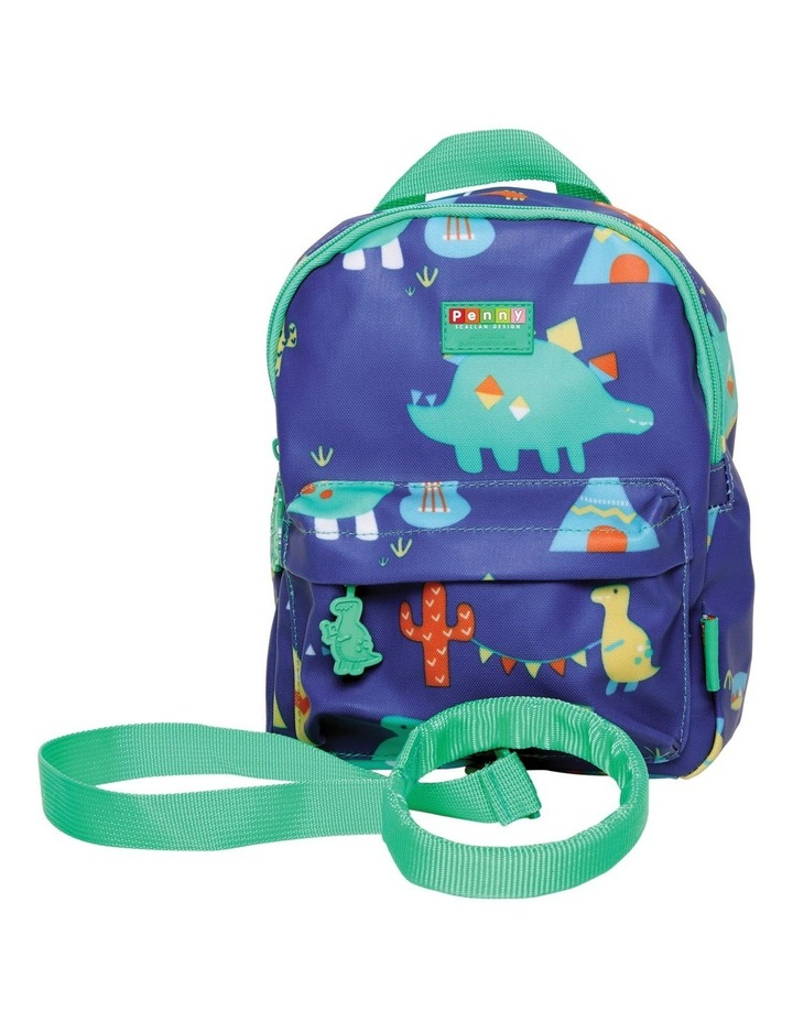 Mini Backpack with Rein Dino Rock image 1